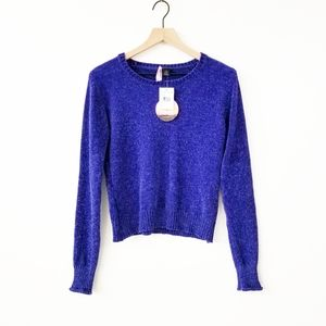 Love By Design Blue Chenille Sweater